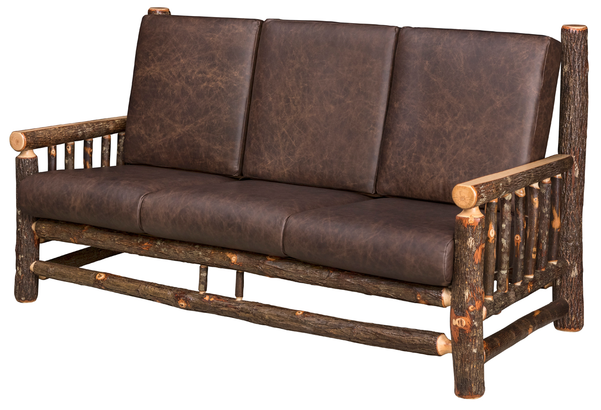 Brilliant Lodge Rustic Sofa In Hickory Camellatalisay Diy Chair Ideas Camellatalisaycom