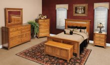 Q.S. White Oak Amish Bedroom Sets | Solid Wood Amish Furniture