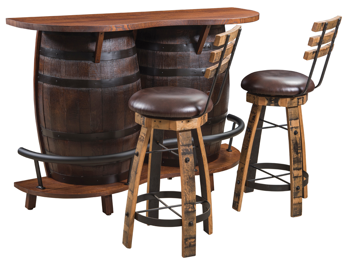 Up To 33 Off Rustic Barrel Bar Table Amish Outlet Store