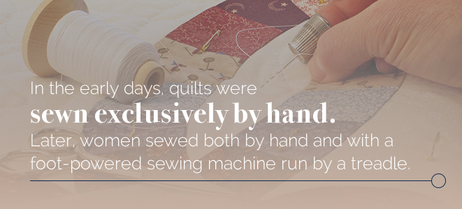 Quilts sewn exclusively by hand