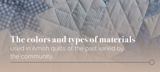 Quilt Colors and Material Types