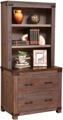 Georgetown Lateral File With Bookcase Hutch