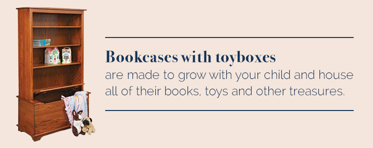 Bookcases with toyboxes