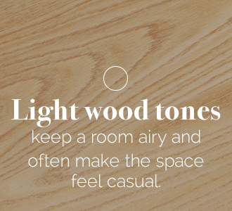 light wood tones keep a room airy
