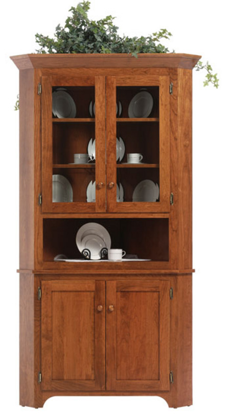 Up To 33 Off Boston Shaker Corner Hutch Amish Outlet Store