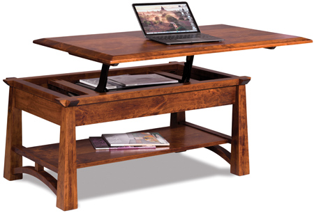 Up To 33 Off Artesa Lift Top Coffee Table Solid Wood Amish
