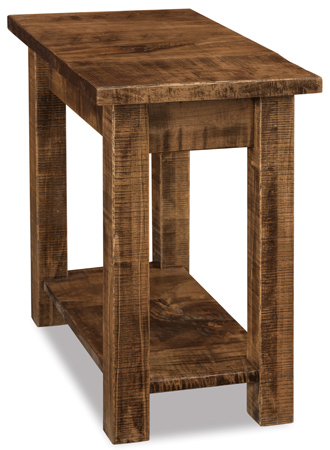 Houston Chairside Rustic End Table In Brown Maple