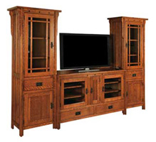 Mission Style Entertainment Centers