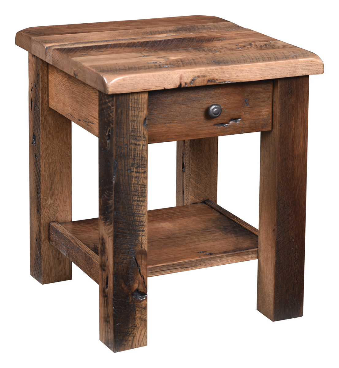 Excellent Rainier Reclaimed Barnwood End Table Interior Design Ideas Gentotryabchikinfo