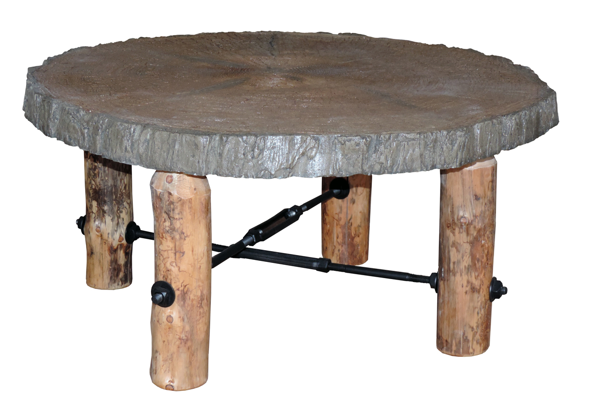 Up To 33 Off Blue Ridge Rustic Pine Coffee Table With Concrete