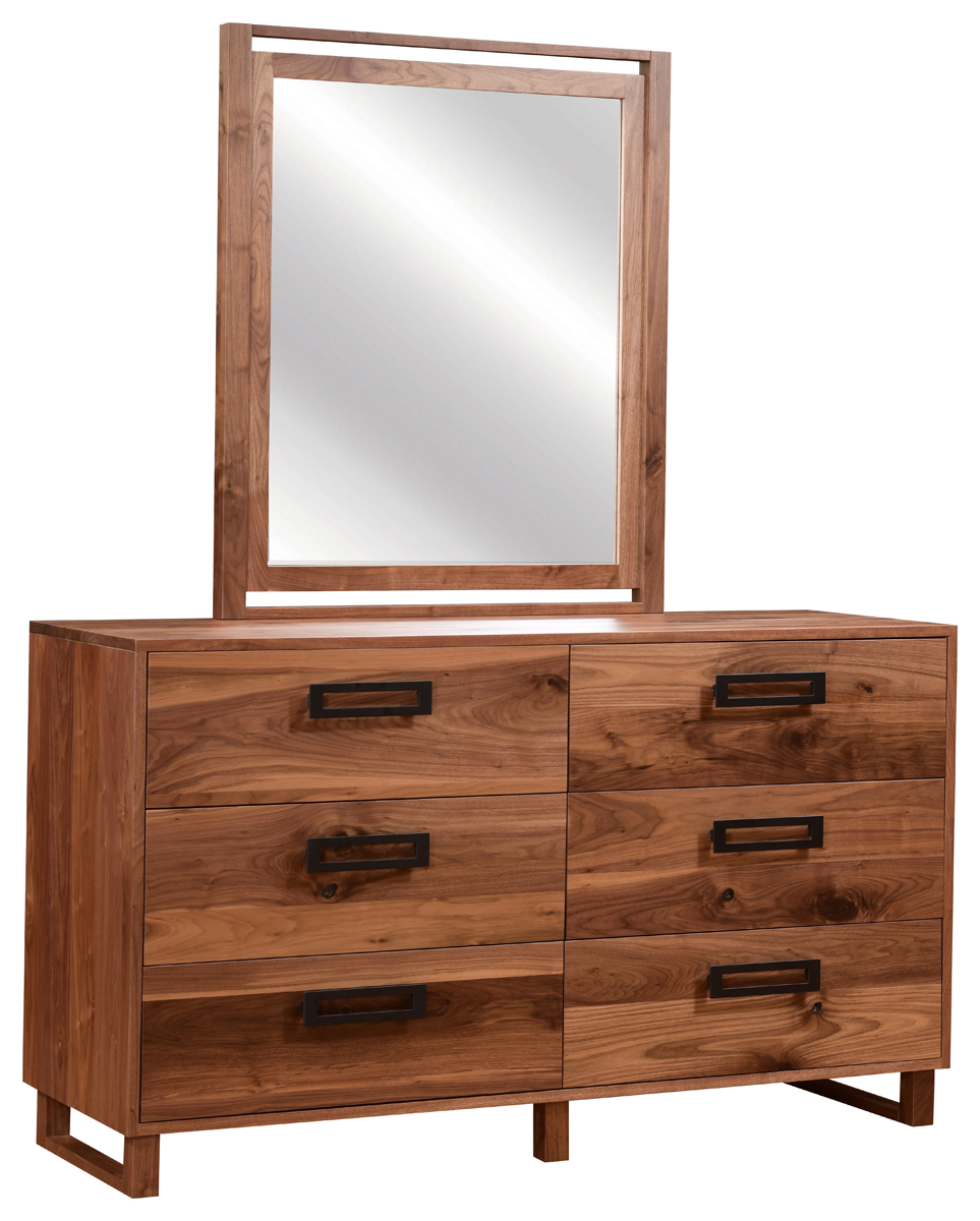 Up To 33 Off Odessa Six Drawer Dresser With Mirror Amish Outlet