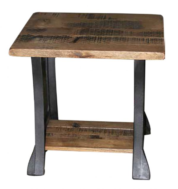 Up To 33% Off Cast Iron Rustic End Table In Rustic Q.S