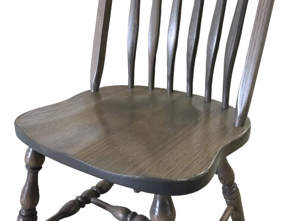 Light stained bent back chair legs
