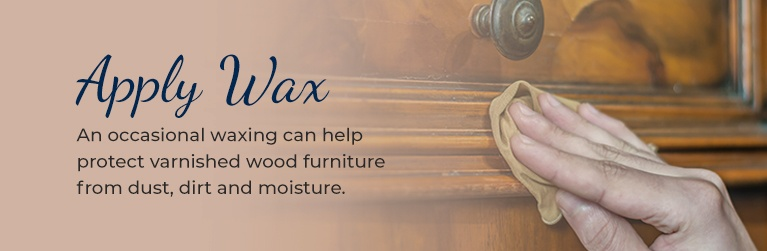 apply wax to wood furniture