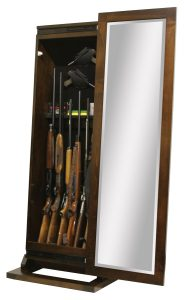 Shaker Rifle Cabinet Leaner and Mirror