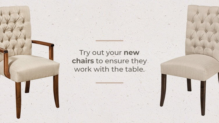 Ensure Space for Dining Chairs