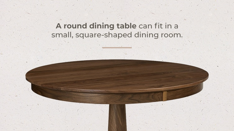 What is the best dining table for a small dining room - round tables