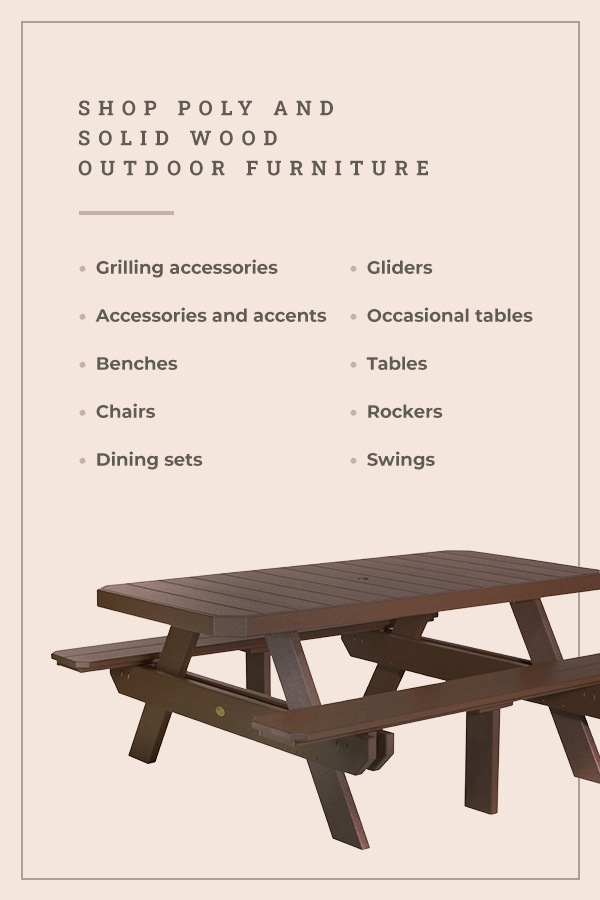 Shop Poly and Solid Wood Outdoor Furniture