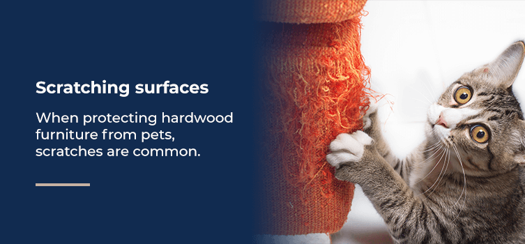 Protect scratching surfaces on furniture